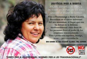 Justícia per a Berta en Palma @ Parc de Ses Veles, Palma de Mallorca